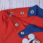 Πιτζάμα Ολόσωμη Jersey με Mickey Mouse για Αγόρι