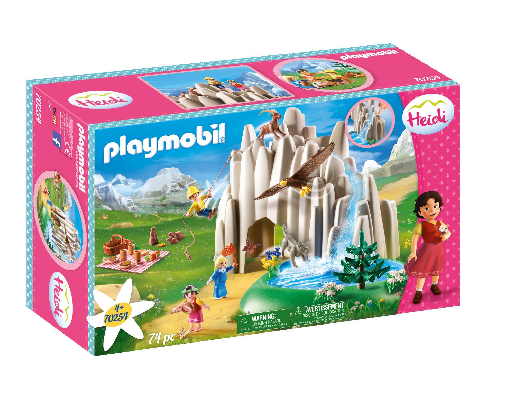 Playmobil Heidi Η Χάιντι, Ο Πέτερ Και Η Κλάρα Στην Κρυστάλλινη Λίμνη 70254