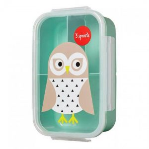 3Sprouts Φαγητοδοχείο με Καπάκι Owl
