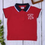 T-shirt Πόλο Κόκκινο για Αγόρι