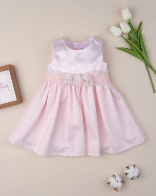 Φόρεμα Ροζ Πουά για Κορίτσι