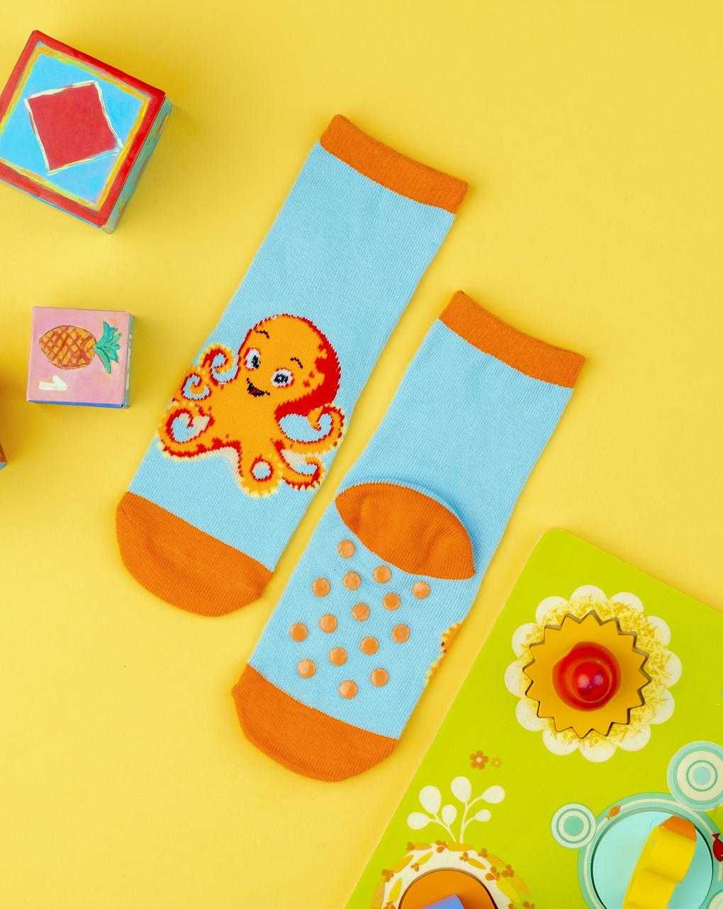 Κάλτσες Αντιολισθητικές με Ζώα της Θάλασσας για Αγόρι