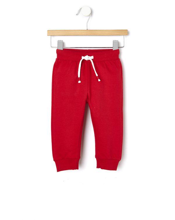 Παντελόνι φόρμας Basic κόκκινο