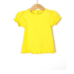 T-Shirt Jersey Κίτρινο για Κορίτσι