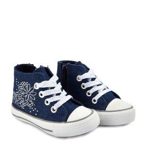 Παπούτσια Αθλητικά Denim Μπλε για Κορίτσι
