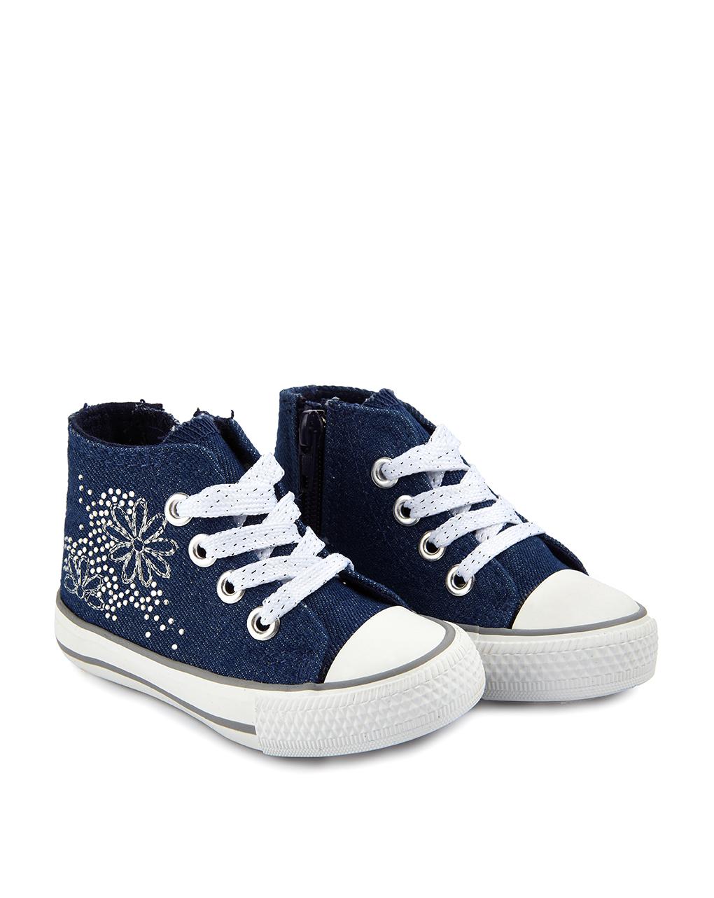 Βρεφικά Παπούτσια Αγκαλιάς Αθλητικά Denim Μπλε για Κορίτσι