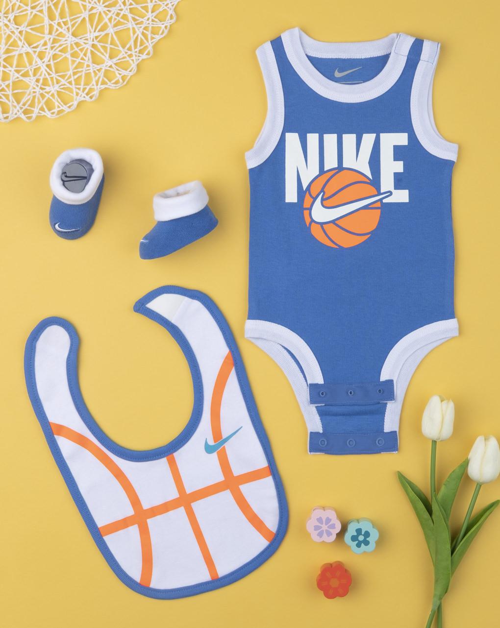 Σετ Nike Κορμάκι-σαλιάρα-καλτσάκια για Αγόρι 6-12μηνών