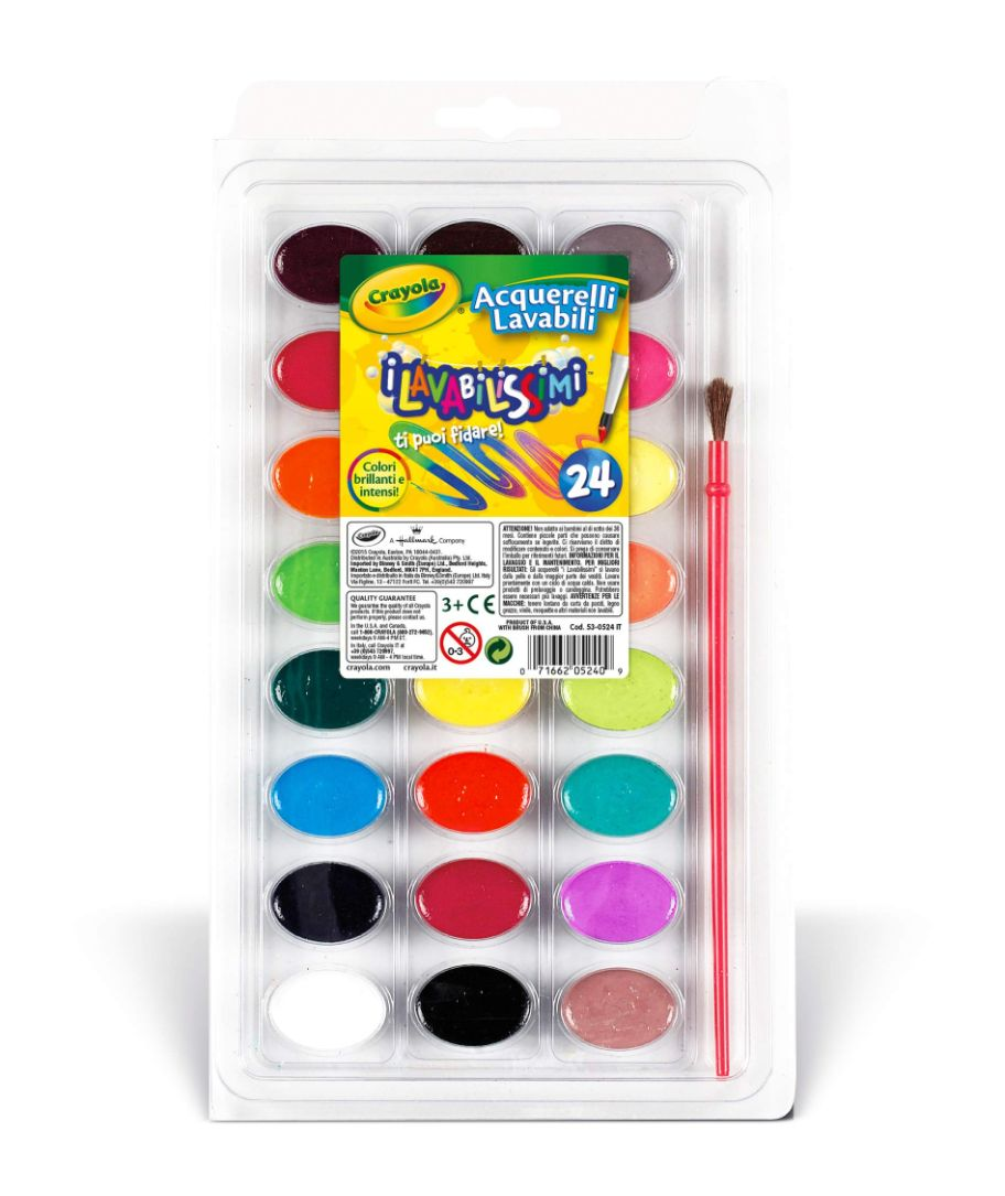 Crayola 24 Νερομπογιές Πλενόμενες