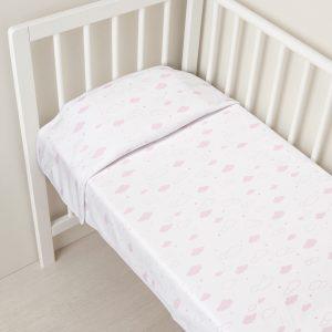 Κουβέρτα με Ροζ Σύννεφα για Κορίτσι