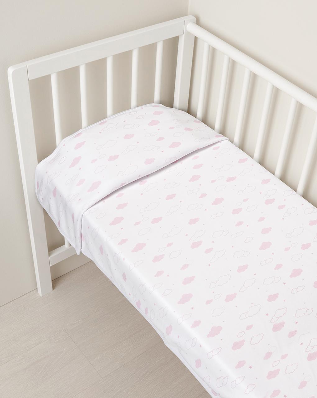 Κουβέρτα με Ροζ Σύννεφα για Κορίτσι - one size