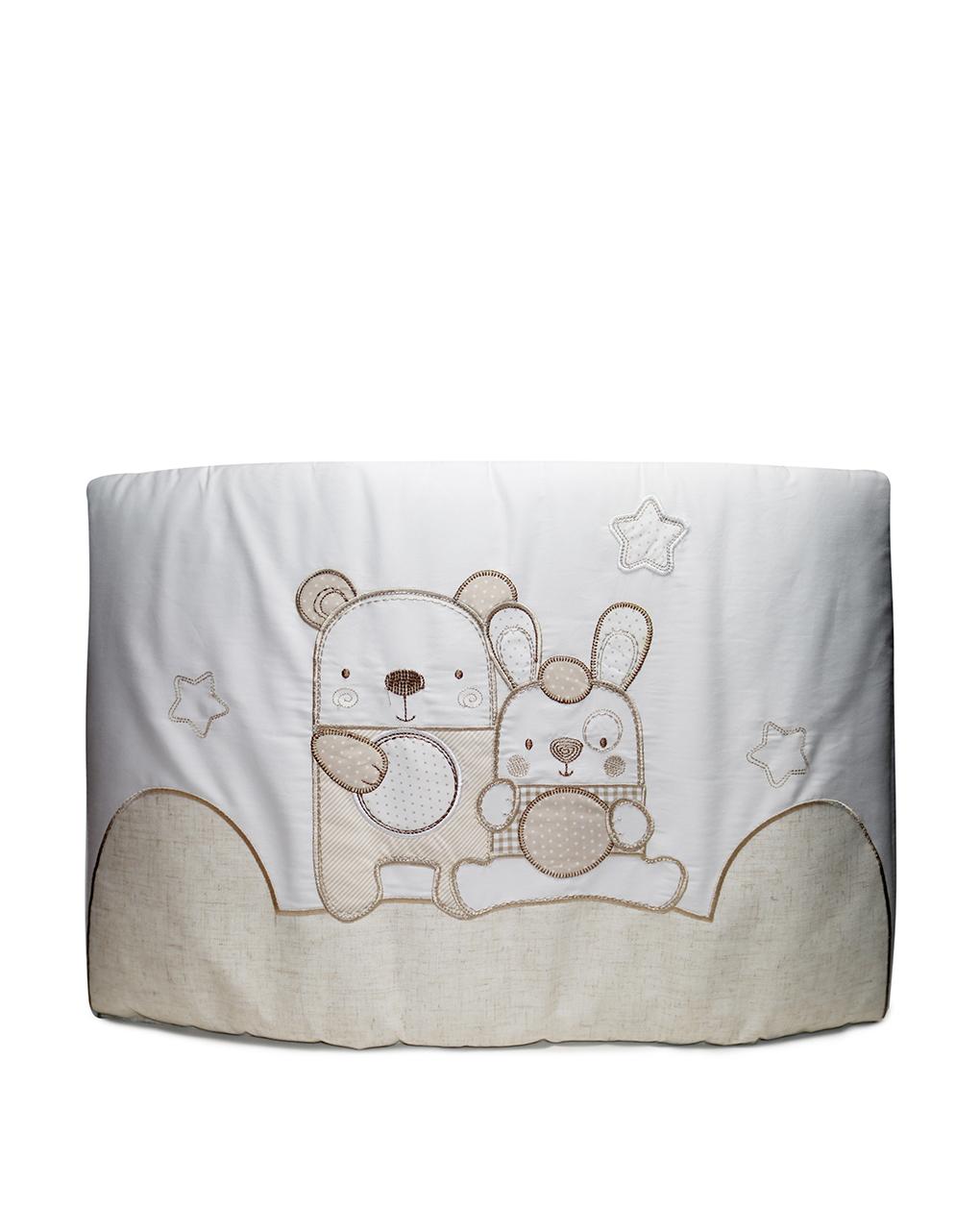 Prenatal Πάντα για κρεβάτι Natural Λευκή - 195 x 40 cm