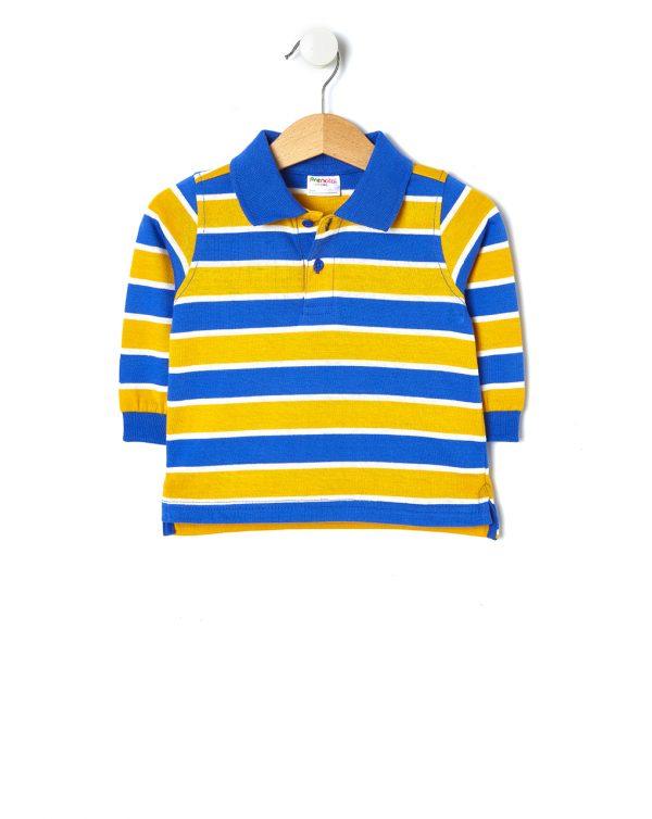 Mπλουζάκι Πόλο με Ρίγες για Αγόρι