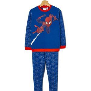 Πιτζάμα Jersey Μπλε με Στάμπα Spiderman για Αγόρι