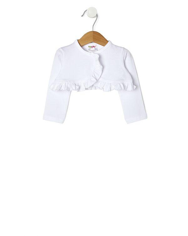 Ζακέτα Μπολερό Jersey Elegant Λευκή για Κορίτσι