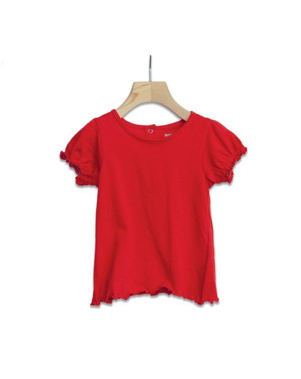 T-Shirt Jersey Κόκκινο για Κορίτσι
