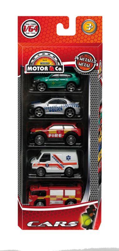 Motor & Co - 5 αυτοκίνητα die cast