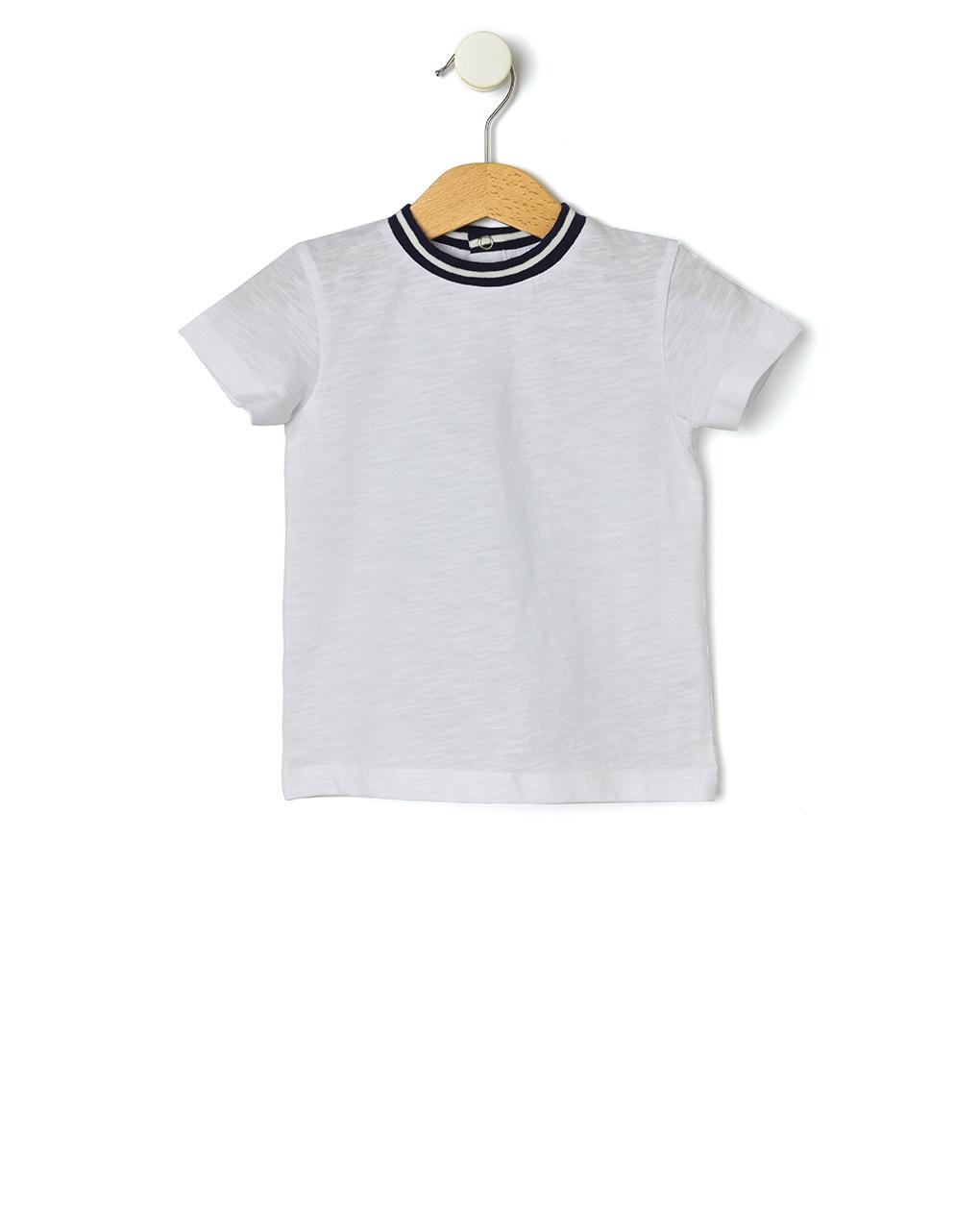 T-shirt Βαμβακερό Λευκό για Αγόρι