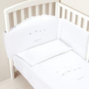 Σετ για κρεβάτι 4 τεμ. λευκό
