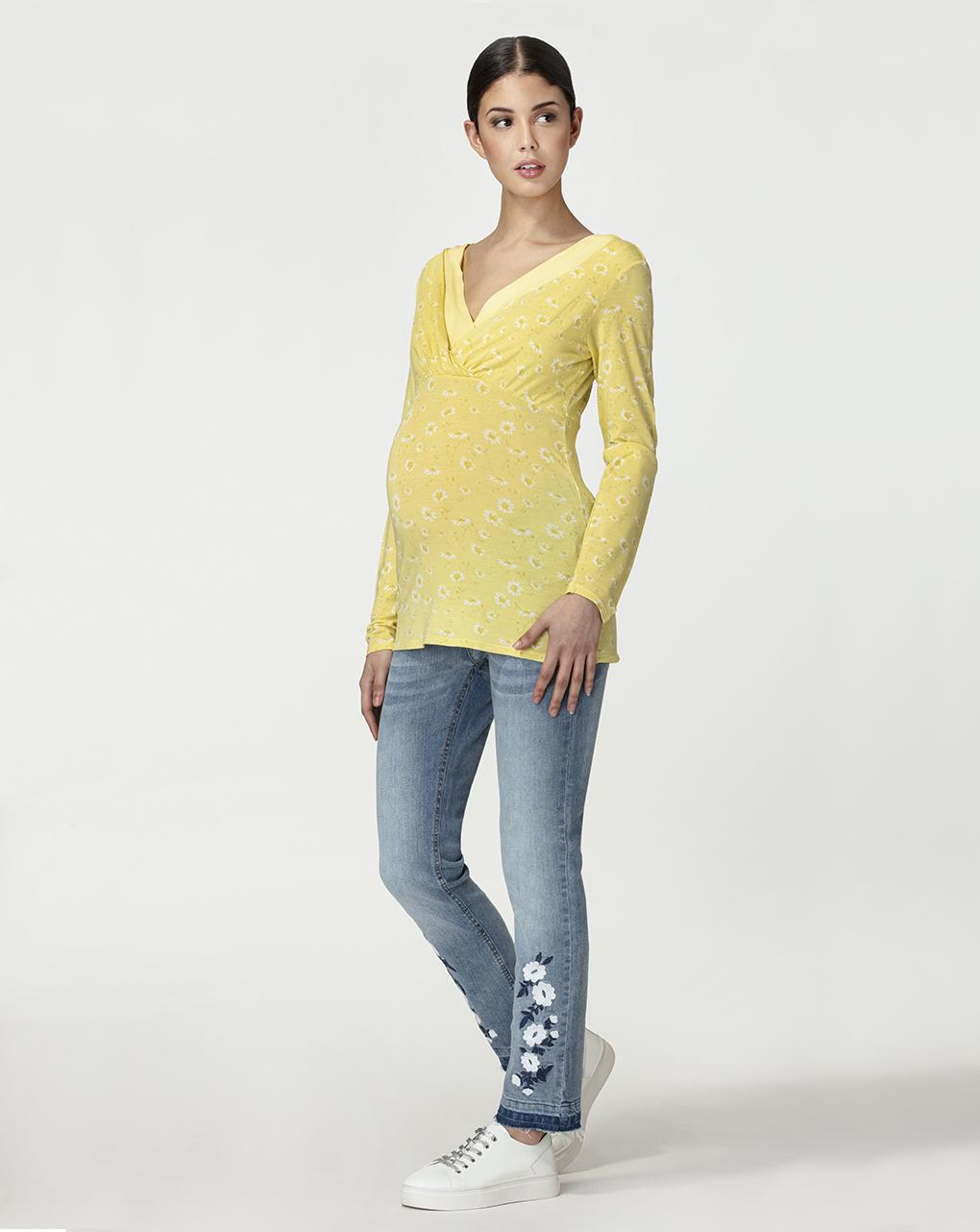 Γυναικεία Μπλούζα Θηλασμού Micromodal Κίτρινη