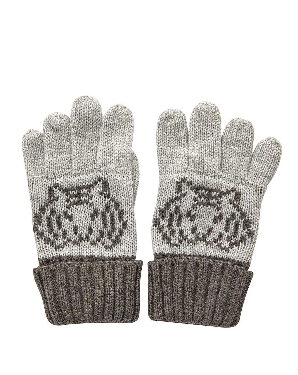 Γάντια Γκρι Πλεκτά για Αγόρι