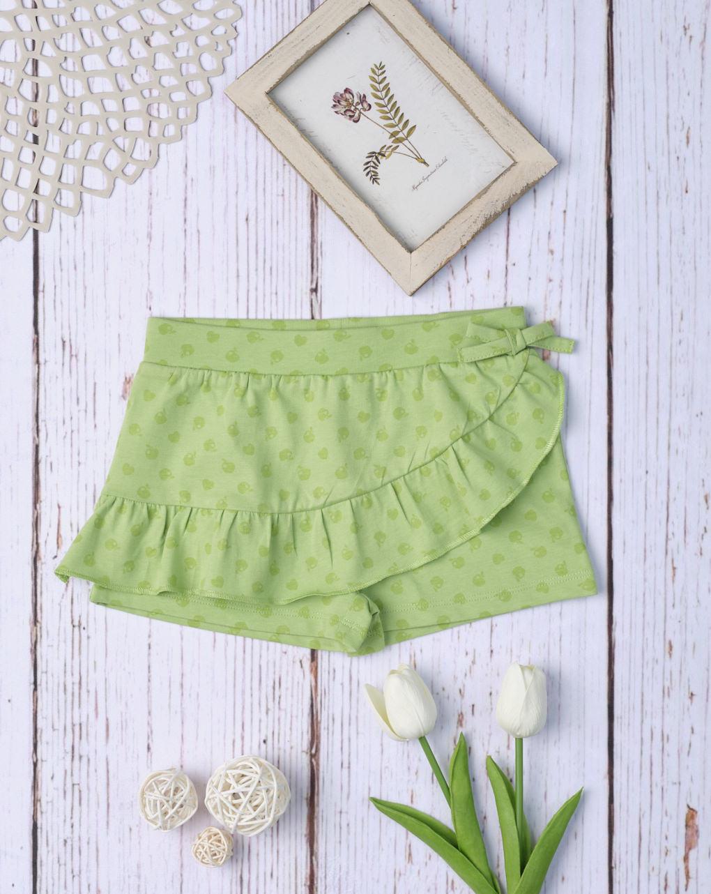 Σορτσάκι-Φούστα Jersey Ανοιχτό Πράσινο για Κορίτσι