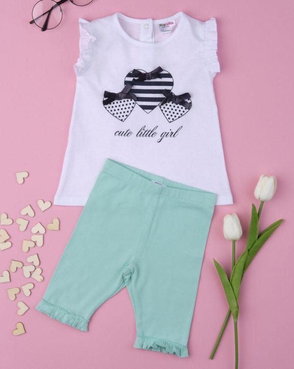 Σετ T-Shirt και Σορτσάκι 3/4 Jersey για Κορίτσι