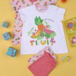 Πιτζάμες με Φρούτα Πακέτο Χ2 για Κορίτσι