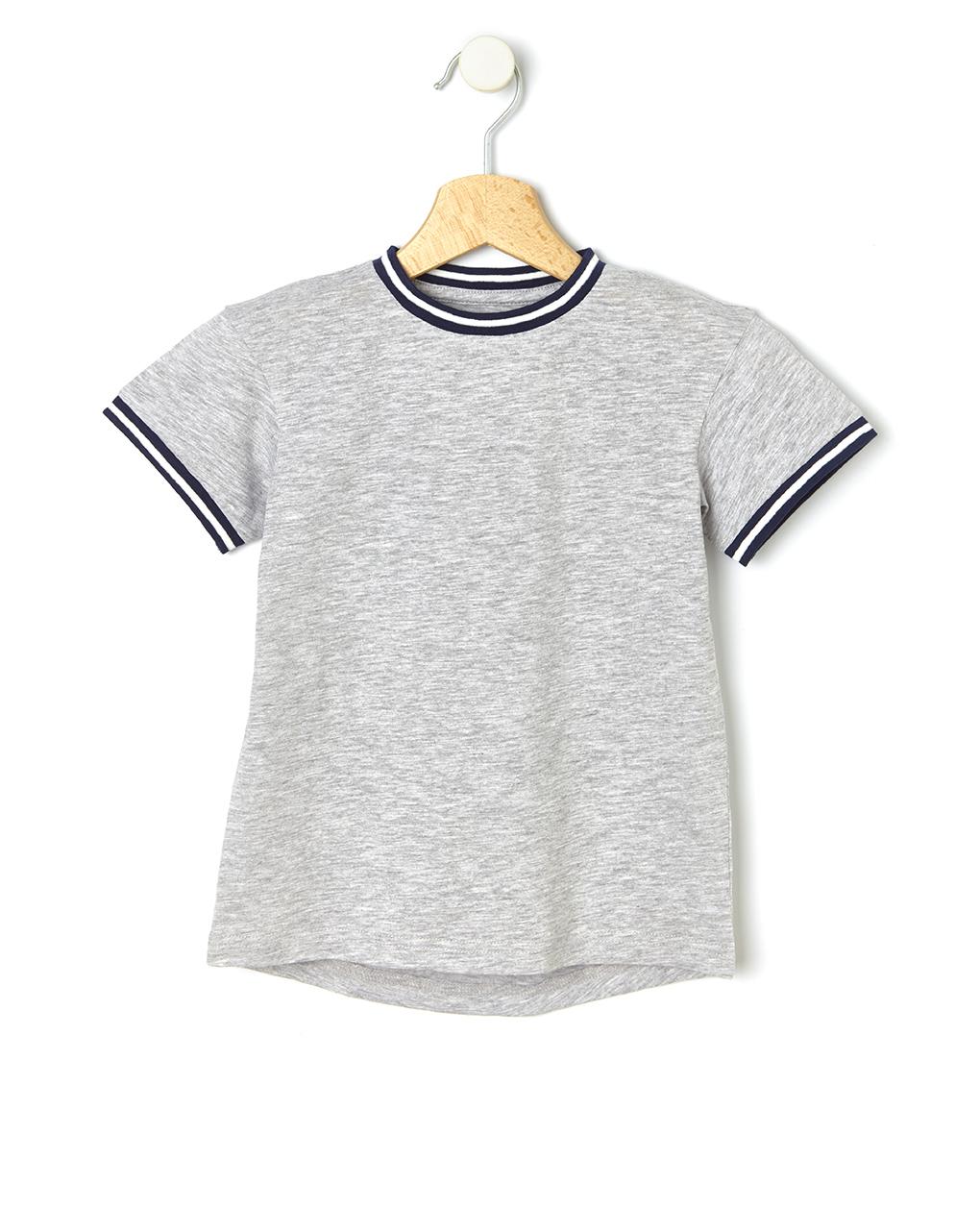 T-Shirt Βαμβακερό Γκρι για Αγόρι
