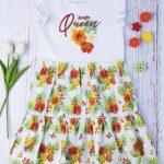 Φόρεμα Jersey με Φούστα Popeline για Κορίτσι