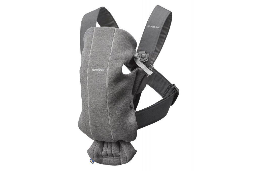 Babybjorn Μάρσιπος Mini Dark Grey 3D Jersey