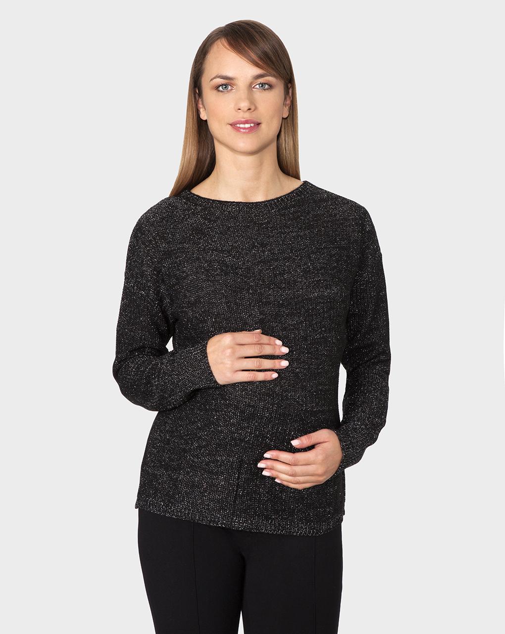 Γυναικεία Μπλούζα Πλεκτή Μαύρη
