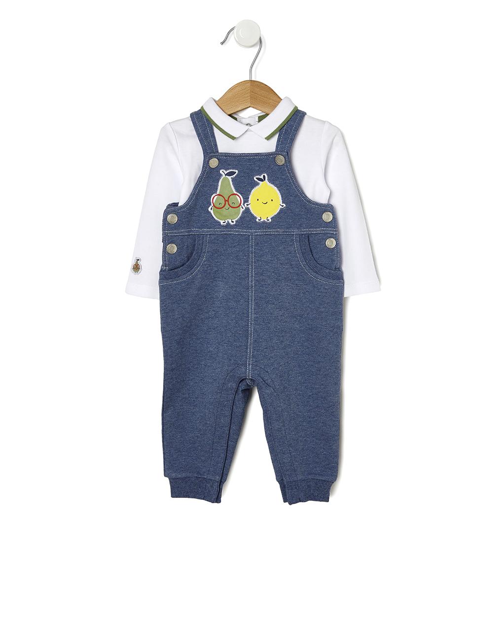 Φορμάκι - Σαλοπέτα Φούτερ Μπλε με Μπλούζα για Αγόρι