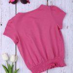 T-shirt Φούξια με Λάστιχο Μεγ.8-9/9-10 Ετών για Κορίτσι