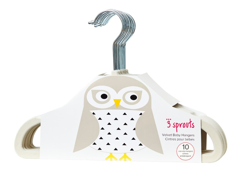 3Sprouts Kρεμάστρες Owl (set of 10)