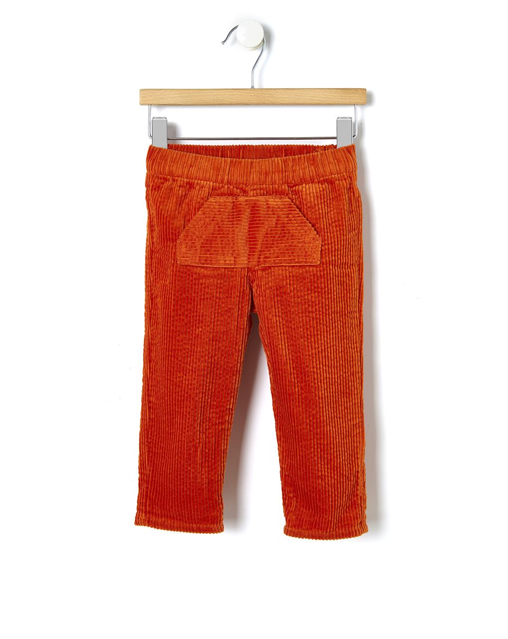 Παντελόνι Βελουτέ Πορτοκαλί για Αγόρι