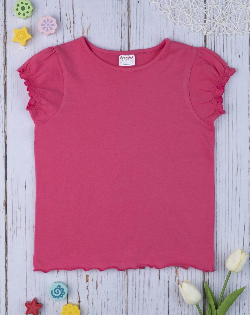 T-shirt Φούξια για Κορίτσι