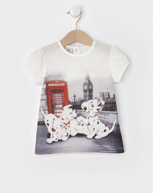 T-Shirt με Στάμπα 101 Σκυλιά της Δαλματίας για Κορίτσι