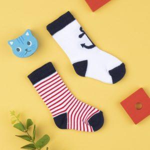 Κάλτσες x2 με Άγκυρα για Αγόρι