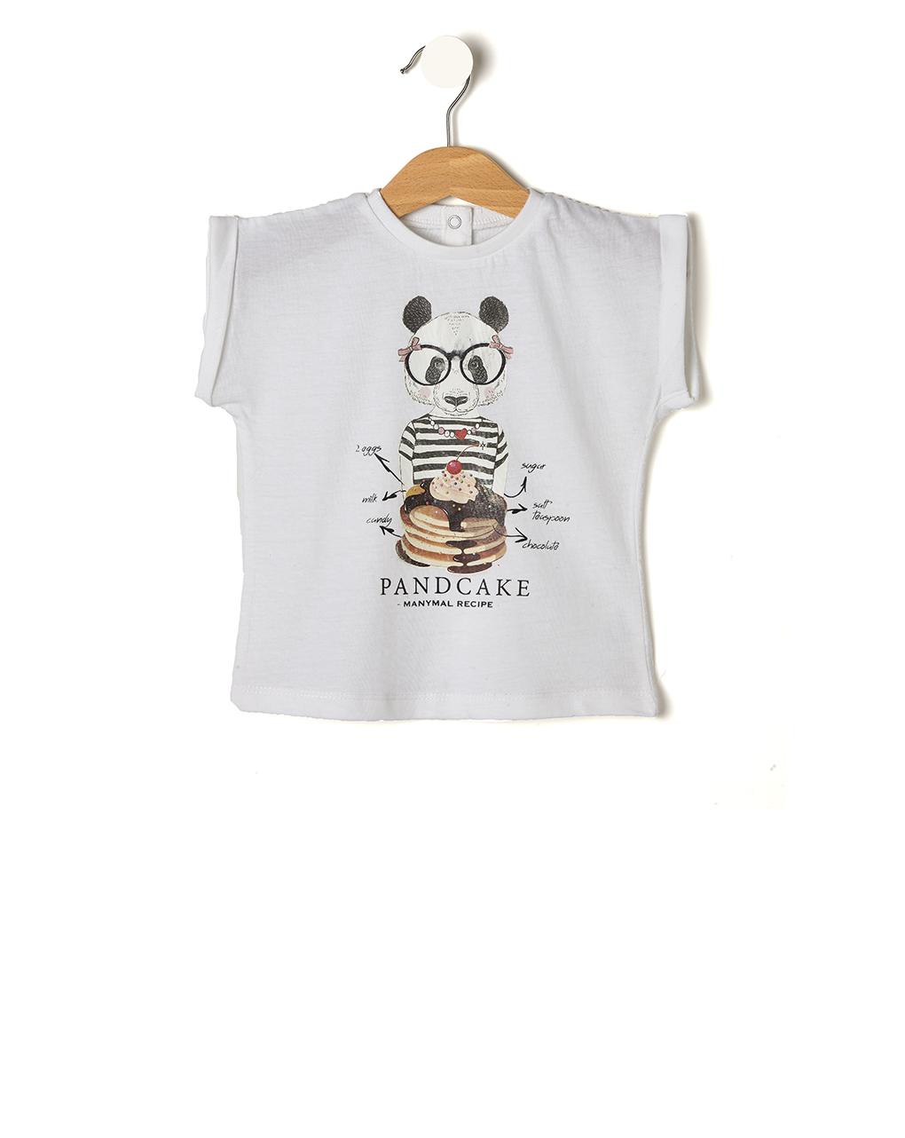 T-shirt Λευκό Manymal - Pandcake για Κορίτσι