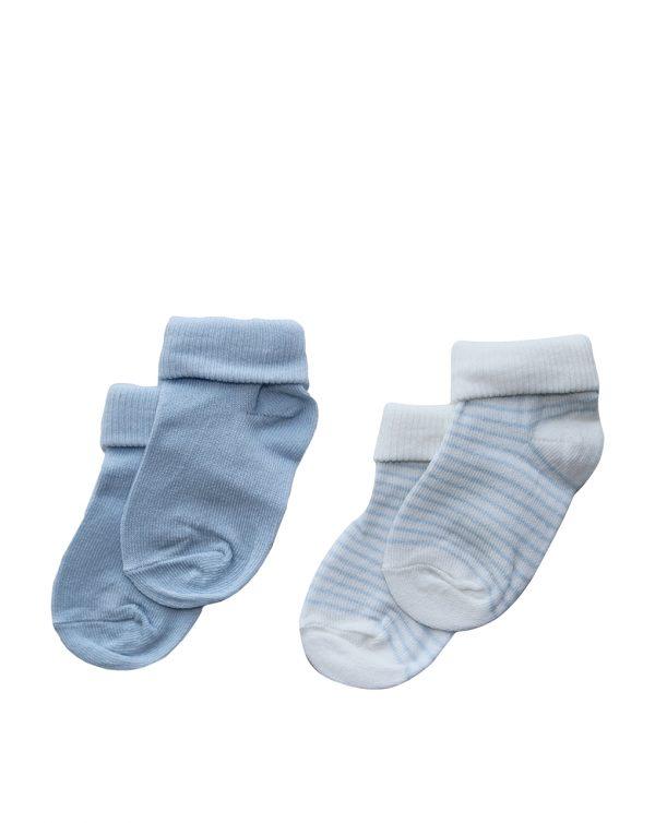 Καλτσάκια Γαλάζια Πακέτο Χ2 Ζευγάρια Unisex