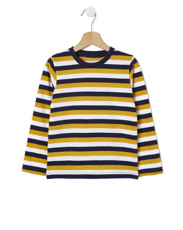 Μπλουζάκι Μακρυμάνικο Basic Ριγέ για Αγόρι