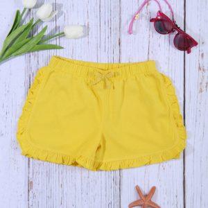 Σορτσάκι Jersey Κίτρινο για Κορίτσι