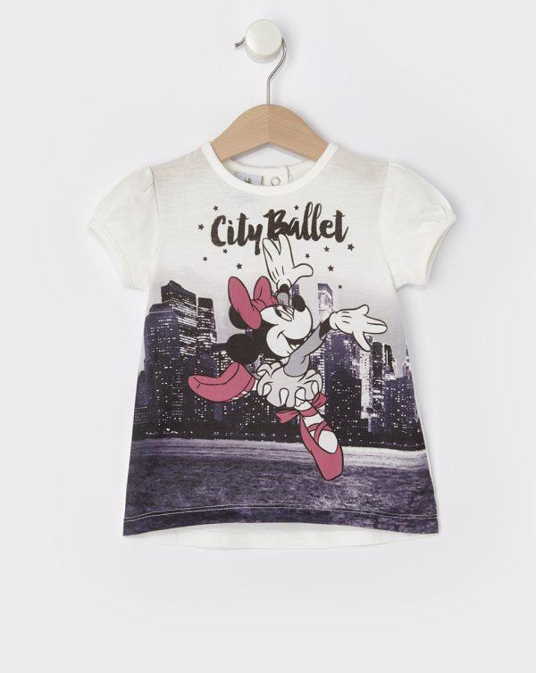 T-Shirt με Στάμπα Minnie Μπαλαρίνα για Κορίτσι