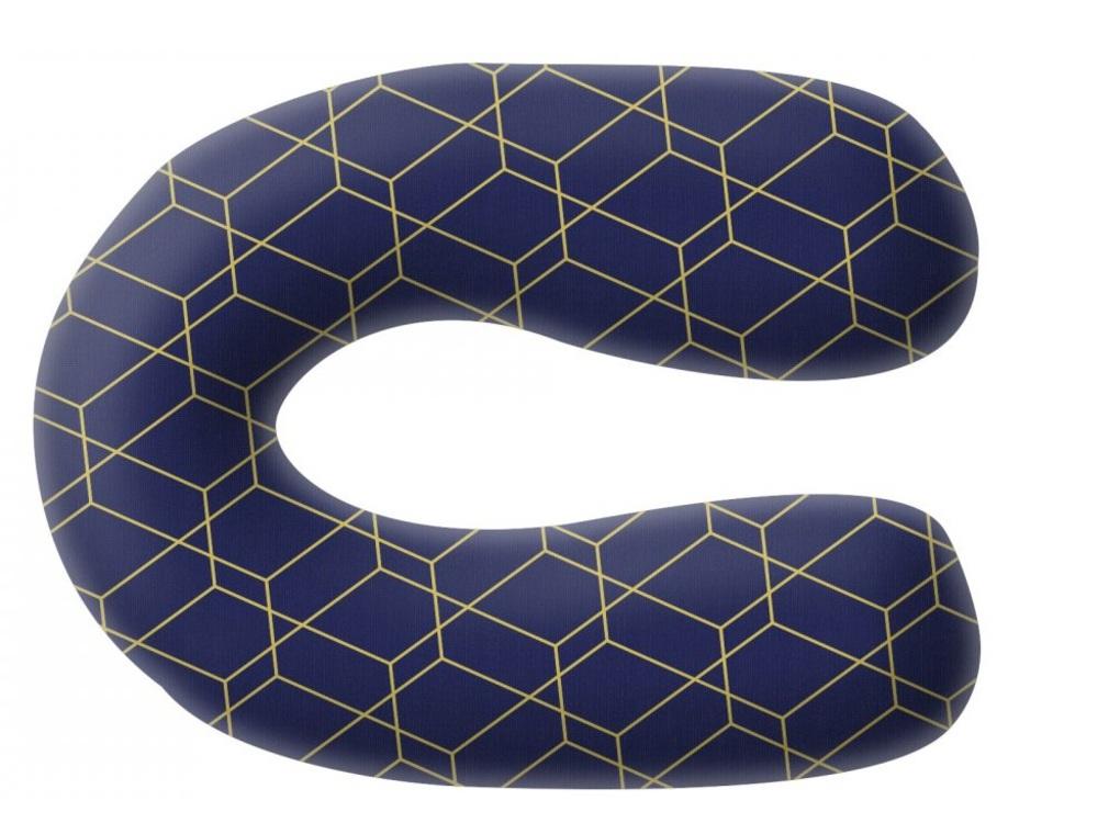 Grecostrom Μαξιλάρι Θηλασμού κι Εγκυμοσύνης Standard Honeycomb Blue