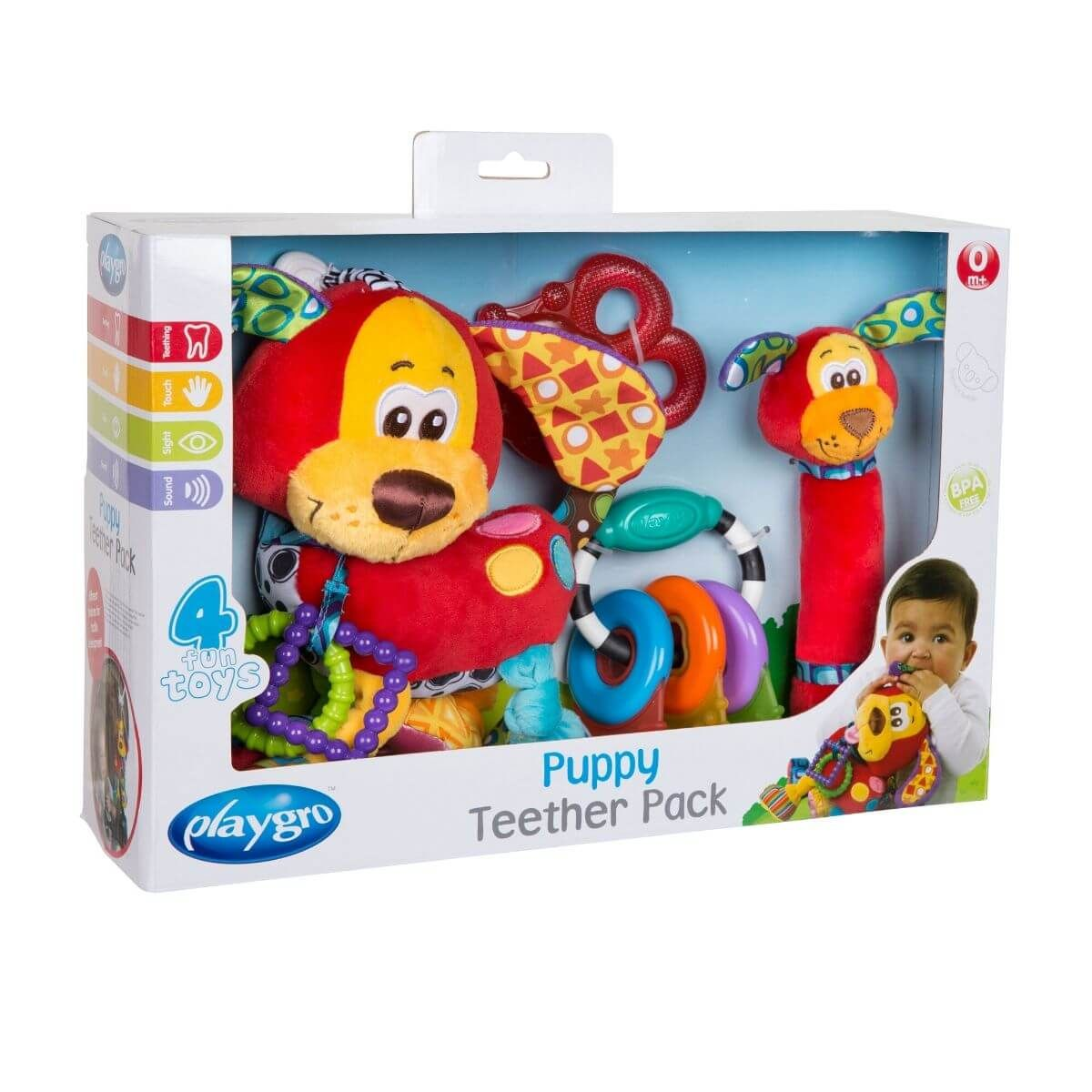 Playgro Puppy Teether Gift Pack-Σετ δώρου