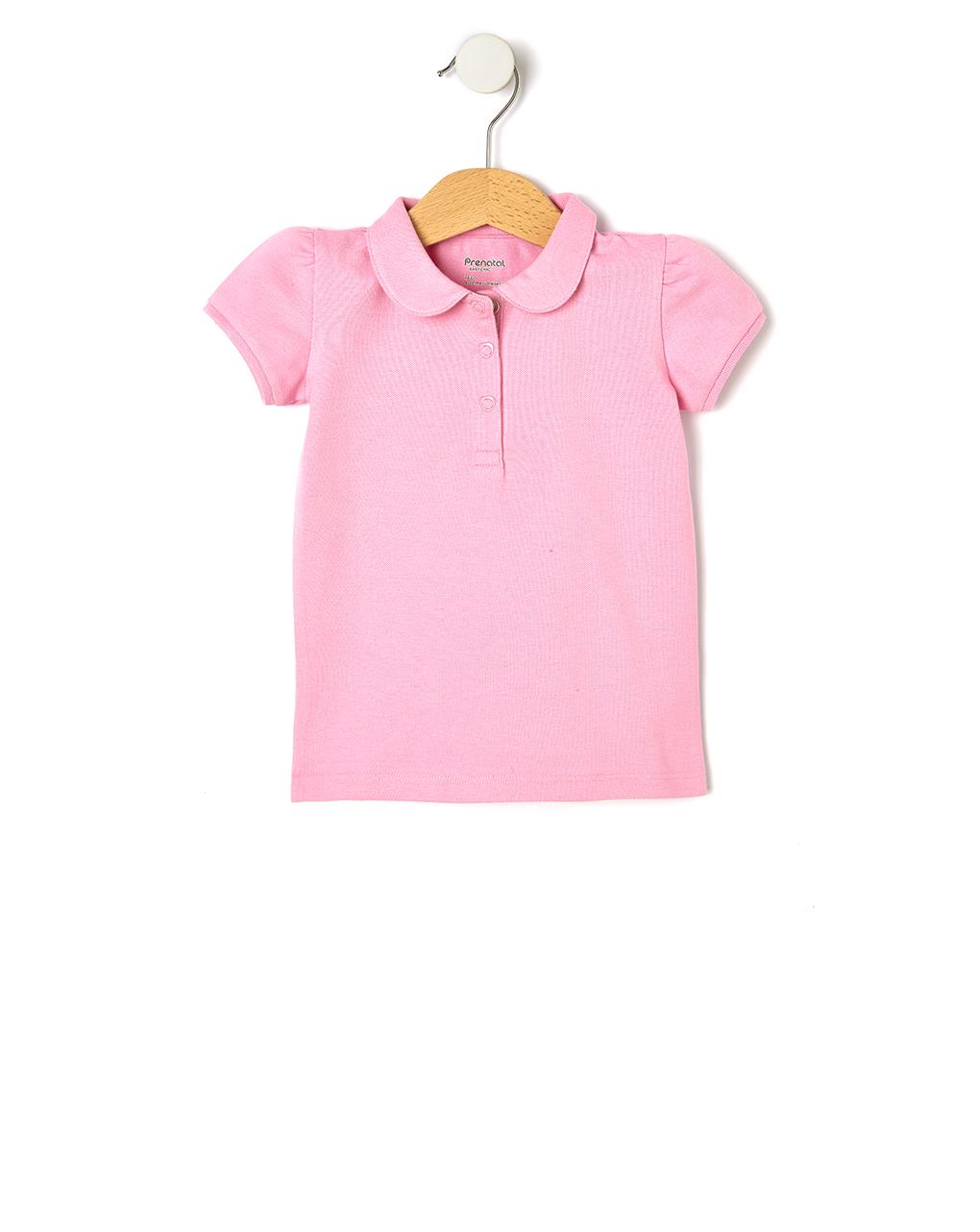 Πόλο Πικέ Basic Ροζ για Κορίτσι