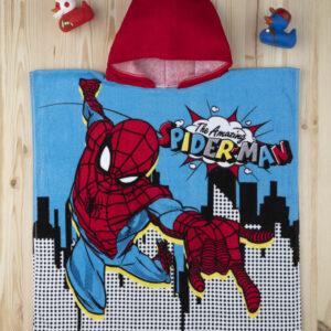 Μπουρνούζι - Πόντσο Spiderman για Αγόρι