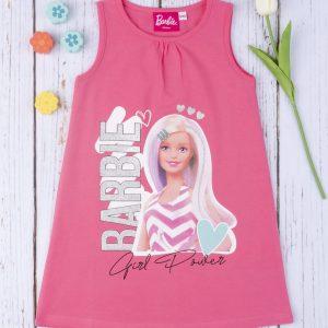 Φόρεμα Jersey Φούξια με Στάμπα Barbie για Κορίτσι