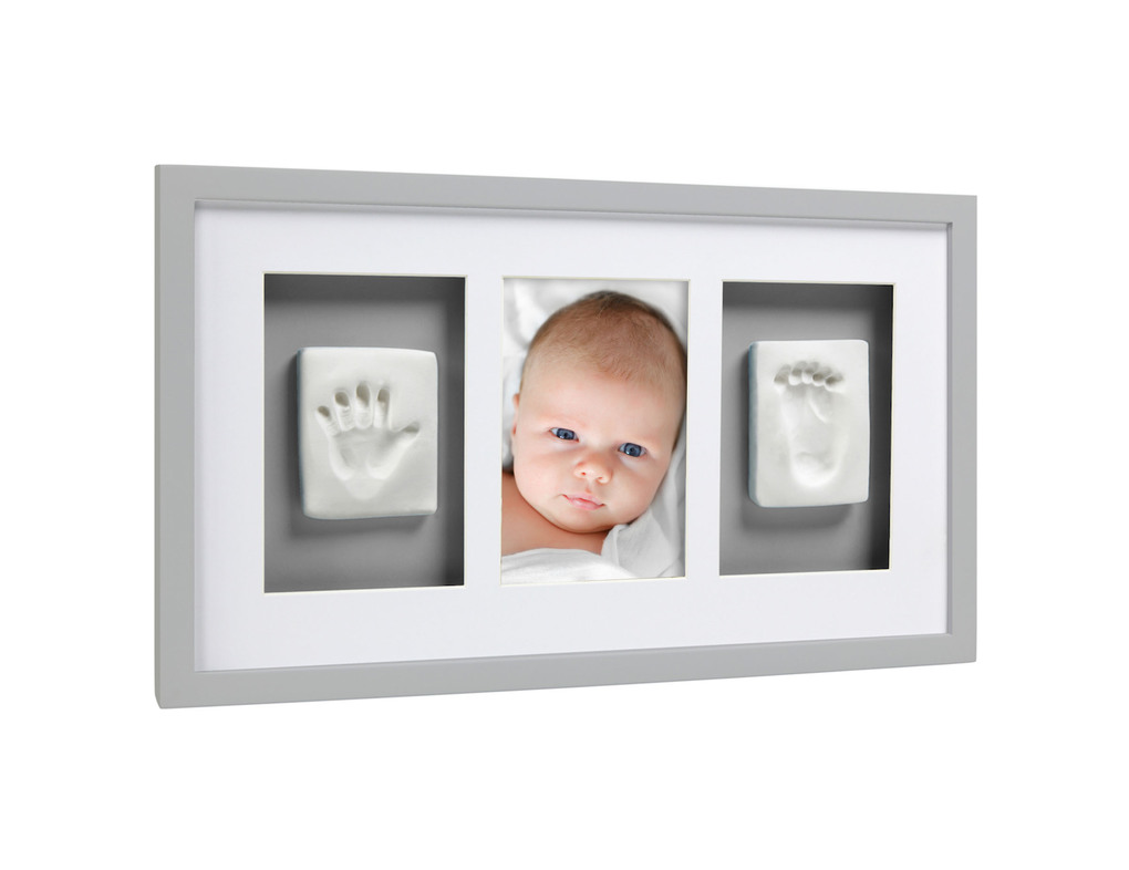 Pearhead Babyprints Deluxe Wall Frame Γκρι
