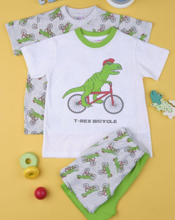 Πιτζάμες με Δεινόσαυρους Πακέτο Χ2 για Αγόρι
